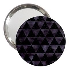 Triangle3 Black Marble & Black Watercolor 3  Handbag Mirror by trendistuff
