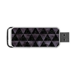 Triangle3 Black Marble & Black Watercolor Portable Usb Flash (one Side) by trendistuff