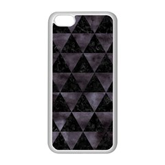 Triangle3 Black Marble & Black Watercolor Apple Iphone 5c Seamless Case (white) by trendistuff