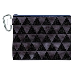 Triangle3 Black Marble & Black Watercolor Canvas Cosmetic Bag (xxl) by trendistuff