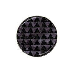 Triangle2 Black Marble & Black Watercolor Hat Clip Ball Marker (4 Pack) by trendistuff