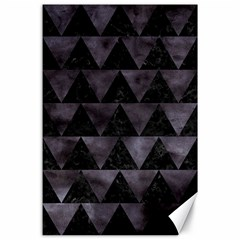 Triangle2 Black Marble & Black Watercolor Canvas 24  X 36  by trendistuff
