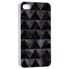 Triangle2 Black Marble & Black Watercolor Apple Iphone 4/4s Seamless Case (white) by trendistuff