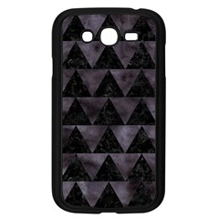 Triangle2 Black Marble & Black Watercolor Samsung Galaxy Grand Duos I9082 Case (black) by trendistuff