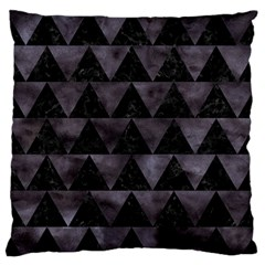 Triangle2 Black Marble & Black Watercolor Standard Flano Cushion Case (one Side) by trendistuff