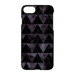 Triangle2 Black Marble & Black Watercolor Apple Iphone 7 Hardshell Case by trendistuff