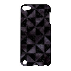Triangle1 Black Marble & Black Watercolor Apple Ipod Touch 5 Hardshell Case by trendistuff