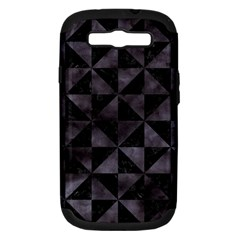 Triangle1 Black Marble & Black Watercolor Samsung Galaxy S Iii Hardshell Case (pc+silicone) by trendistuff