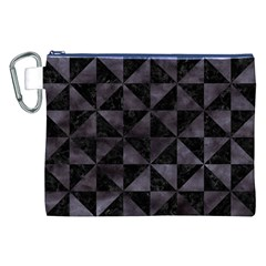 Triangle1 Black Marble & Black Watercolor Canvas Cosmetic Bag (xxl) by trendistuff