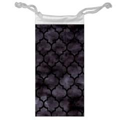 Tile1 Black Marble & Black Watercolor (r) Jewelry Bag by trendistuff