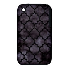 Tile1 Black Marble & Black Watercolor (r) Apple Iphone 3g/3gs Hardshell Case (pc+silicone)