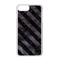 Str3 Bk Mrbl Bk Wclr (r) Apple Iphone 7 Plus White Seamless Case by trendistuff