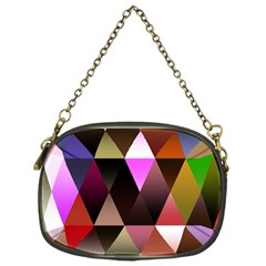 Triangles Abstract Triangle Background Pattern Chain Purses (one Side)  by Simbadda