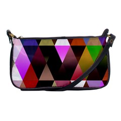 Triangles Abstract Triangle Background Pattern Shoulder Clutch Bags by Simbadda