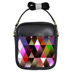 Triangles Abstract Triangle Background Pattern Girls Sling Bags by Simbadda