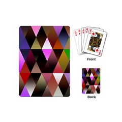 Triangles Abstract Triangle Background Pattern Playing Cards (mini)  by Simbadda