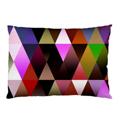 Triangles Abstract Triangle Background Pattern Pillow Case (two Sides) by Simbadda