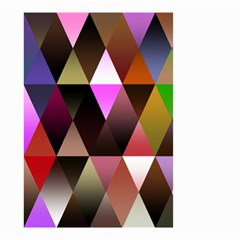 Triangles Abstract Triangle Background Pattern Small Garden Flag (two Sides) by Simbadda