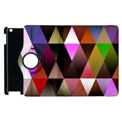 Triangles Abstract Triangle Background Pattern Apple Ipad 3/4 Flip 360 Case by Simbadda