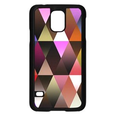 Triangles Abstract Triangle Background Pattern Samsung Galaxy S5 Case (black) by Simbadda