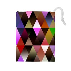 Triangles Abstract Triangle Background Pattern Drawstring Pouches (large)  by Simbadda