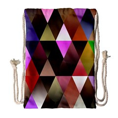 Triangles Abstract Triangle Background Pattern Drawstring Bag (large) by Simbadda