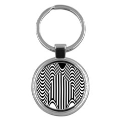 Stripe Abstract Stripped Geometric Background Key Chains (round)  by Simbadda