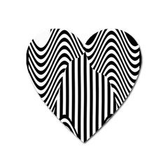 Stripe Abstract Stripped Geometric Background Heart Magnet by Simbadda