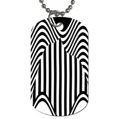 Stripe Abstract Stripped Geometric Background Dog Tag (two Sides) by Simbadda