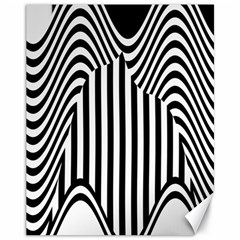 Stripe Abstract Stripped Geometric Background Canvas 11  X 14   by Simbadda
