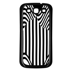 Stripe Abstract Stripped Geometric Background Samsung Galaxy S3 Back Case (black) by Simbadda