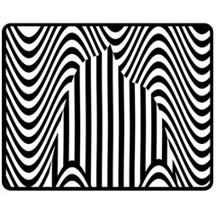 Stripe Abstract Stripped Geometric Background Double Sided Fleece Blanket (medium)  by Simbadda