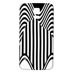 Stripe Abstract Stripped Geometric Background Samsung Galaxy S5 Back Case (white) by Simbadda