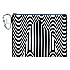Stripe Abstract Stripped Geometric Background Canvas Cosmetic Bag (xxl) by Simbadda