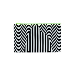 Stripe Abstract Stripped Geometric Background Cosmetic Bag (xs) by Simbadda