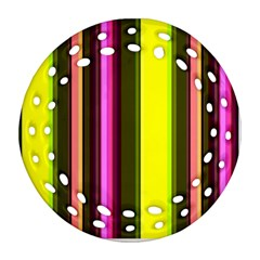 Stripes Abstract Background Pattern Ornament (Round Filigree) by Simbadda