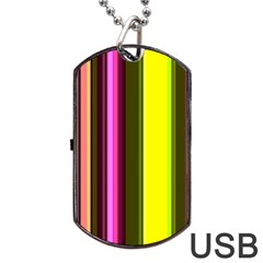 Stripes Abstract Background Pattern Dog Tag Usb Flash (one Side) by Simbadda