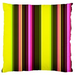 Stripes Abstract Background Pattern Large Flano Cushion Case (two Sides) by Simbadda