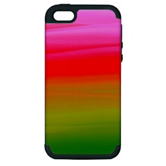 Watercolour Abstract Paint Digitally Painted Background Texture Apple Iphone 5 Hardshell Case (pc+silicone) by Simbadda