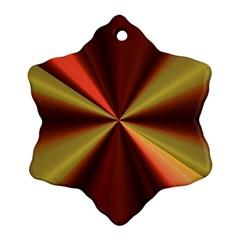 Copper Beams Abstract Background Pattern Ornament (snowflake) by Simbadda