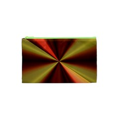 Copper Beams Abstract Background Pattern Cosmetic Bag (xs) by Simbadda