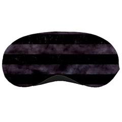 Stripes2 Black Marble & Black Watercolor Sleeping Mask by trendistuff