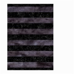 Stripes2 Black Marble & Black Watercolor Small Garden Flag (two Sides) by trendistuff