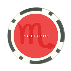 Zodiac Scorpio Poker Chip Card Guard (10 Pack) by Mariart