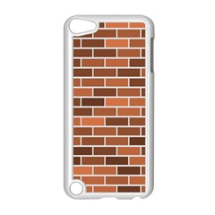 Brick Brown Line Texture Apple Ipod Touch 5 Case (white) by Mariart