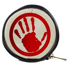 Bloody Handprint Stop Emob Sign Red Circle Mini Makeup Bags by Mariart
