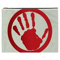 Bloody Handprint Stop Emob Sign Red Circle Cosmetic Bag (xxxl)  by Mariart