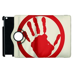Bloody Handprint Stop Emob Sign Red Circle Apple Ipad 3/4 Flip 360 Case by Mariart