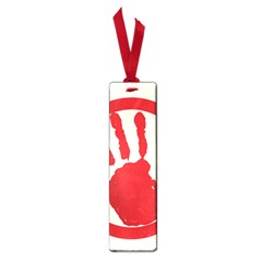 Bloody Handprint Stop Emob Sign Red Circle Small Book Marks by Mariart