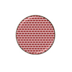 Brick Line Red White Hat Clip Ball Marker (4 Pack) by Mariart
